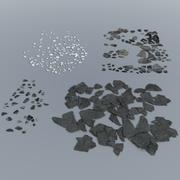 Residuos: yeso roto / concreto modelo 3d