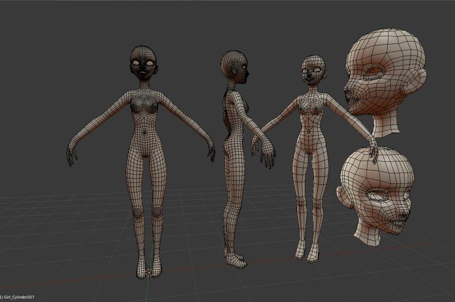 Female Base Mesh royalty-free 3d model - Preview no. 3