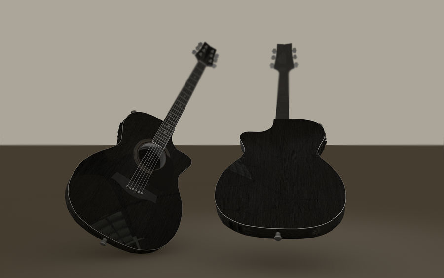 Elektrische Gitarre royalty-free 3d model - Preview no. 6