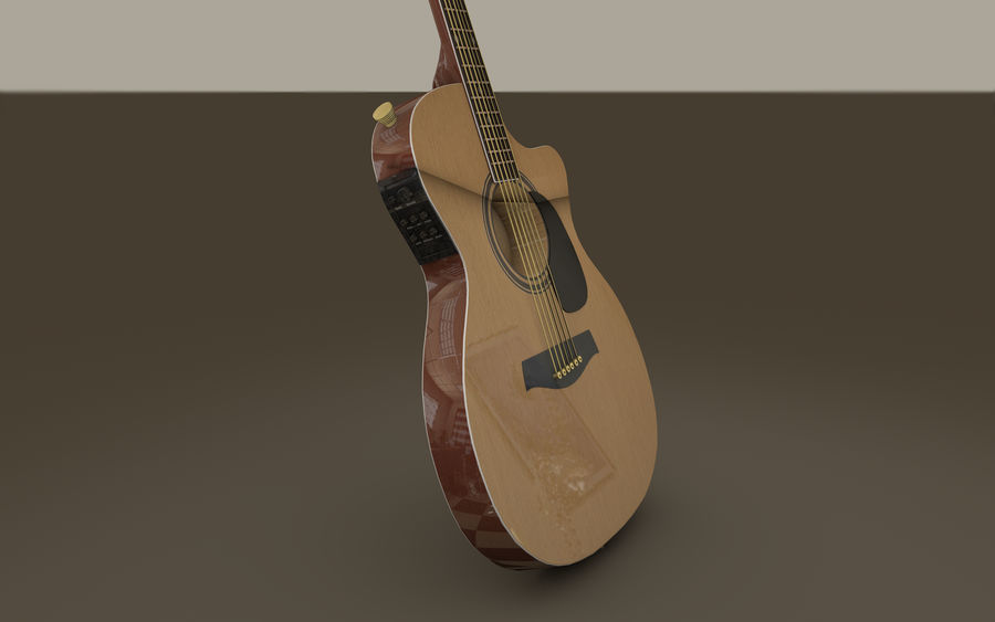 Elgitarr royalty-free 3d model - Preview no. 5