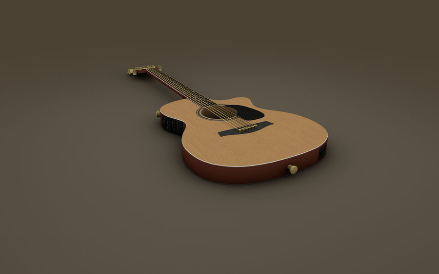 Elgitarr royalty-free 3d model - Preview no. 4