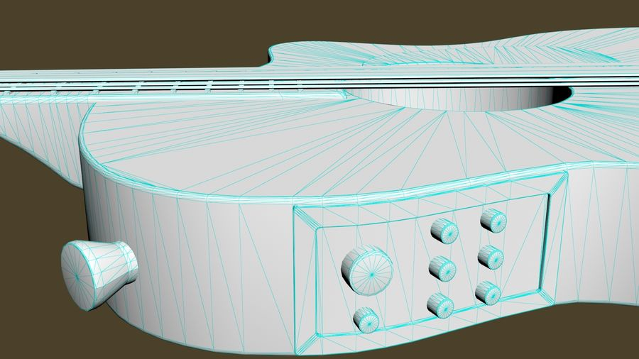 Elektrische Gitarre royalty-free 3d model - Preview no. 12