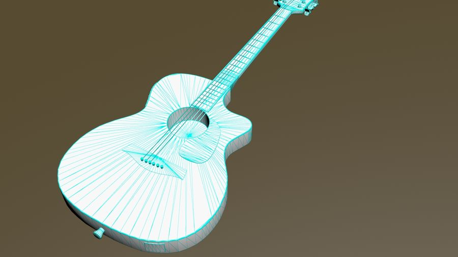 Electric Guitar royalty-free 3d model - Preview no. 10