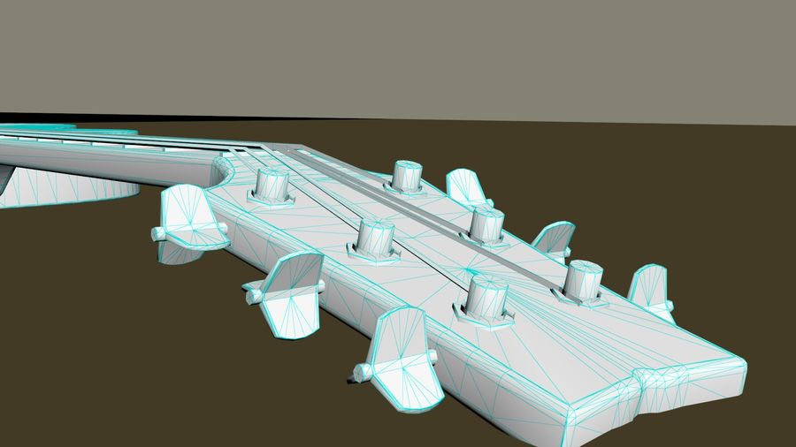 Elektrische Gitarre royalty-free 3d model - Preview no. 11