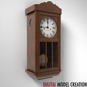 настенные часы 05 3d model
