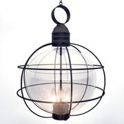 Ramlampa i metall 3d model