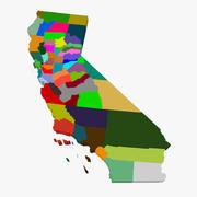 County Map-California 3d model