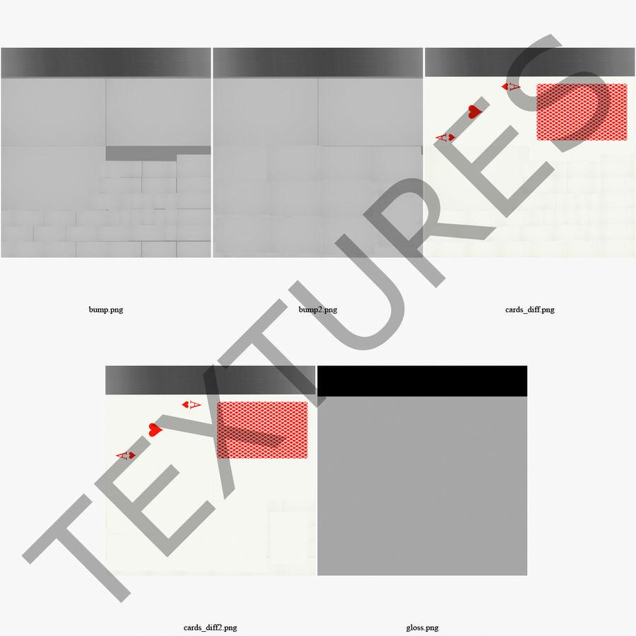 Deck Van Speelkaarten royalty-free 3d model - Preview no. 20