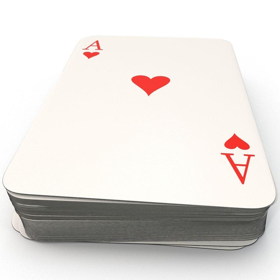 Deck Van Speelkaarten royalty-free 3d model - Preview no. 4