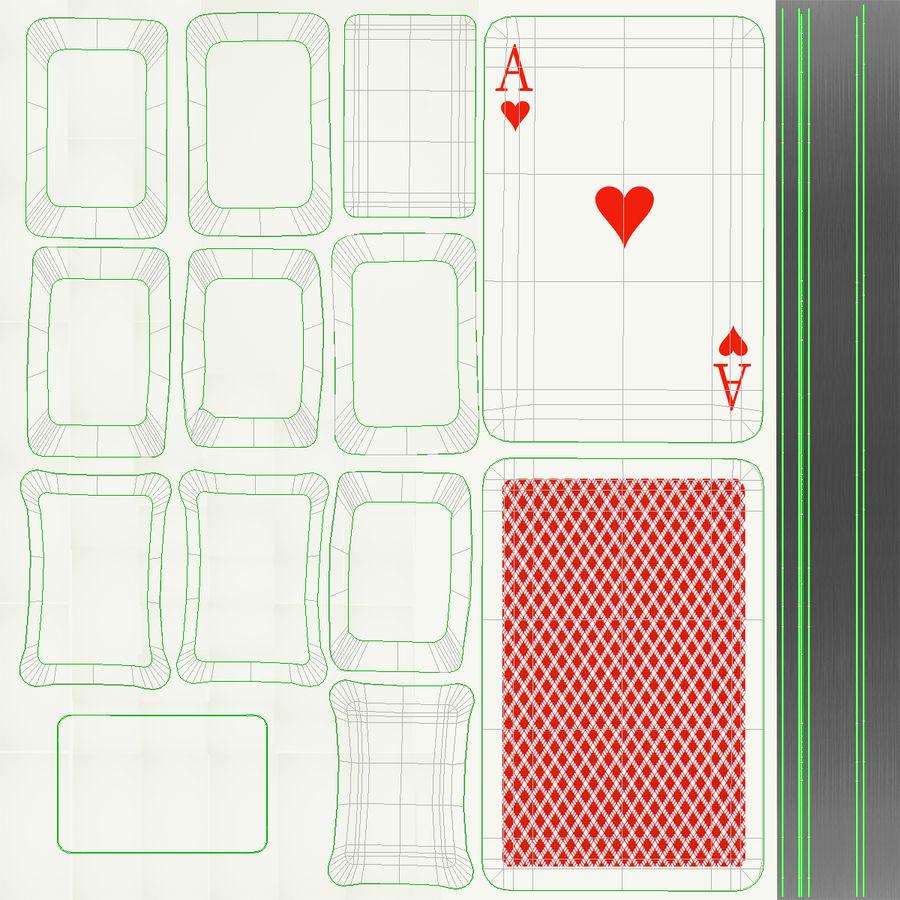 Deck Van Speelkaarten royalty-free 3d model - Preview no. 19