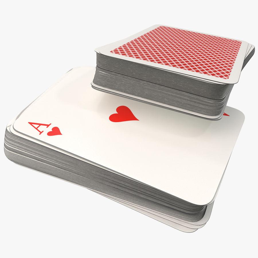 Deck Van Speelkaarten royalty-free 3d model - Preview no. 1