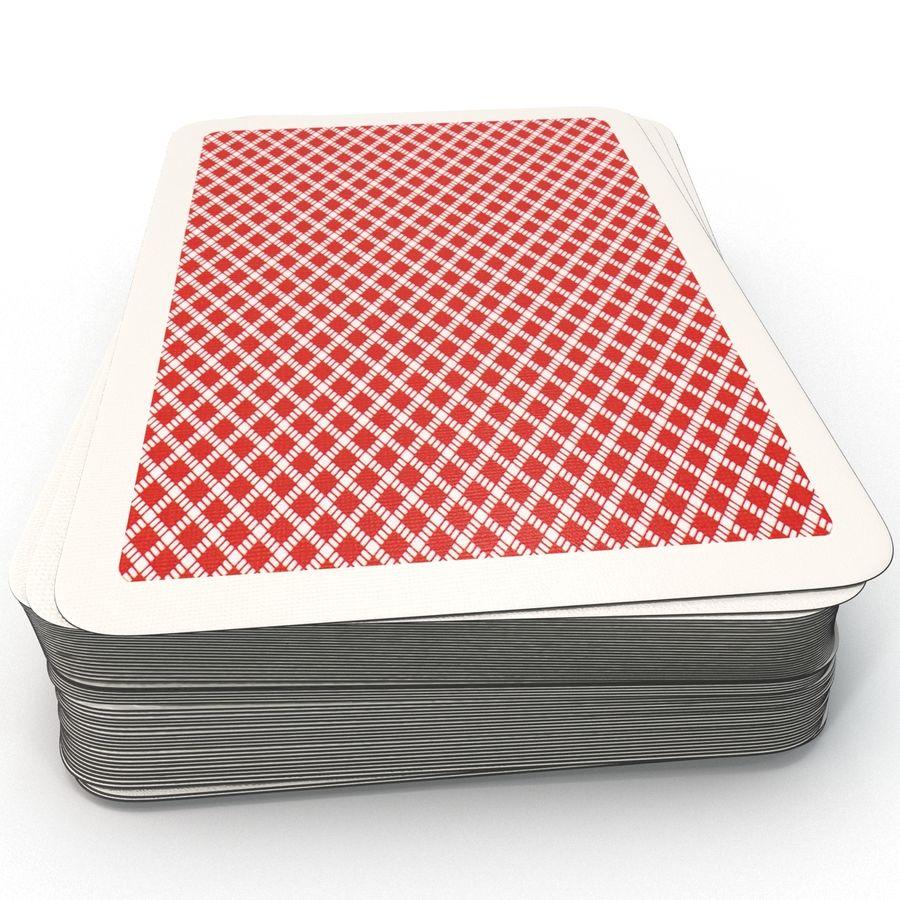 Deck Van Speelkaarten royalty-free 3d model - Preview no. 6