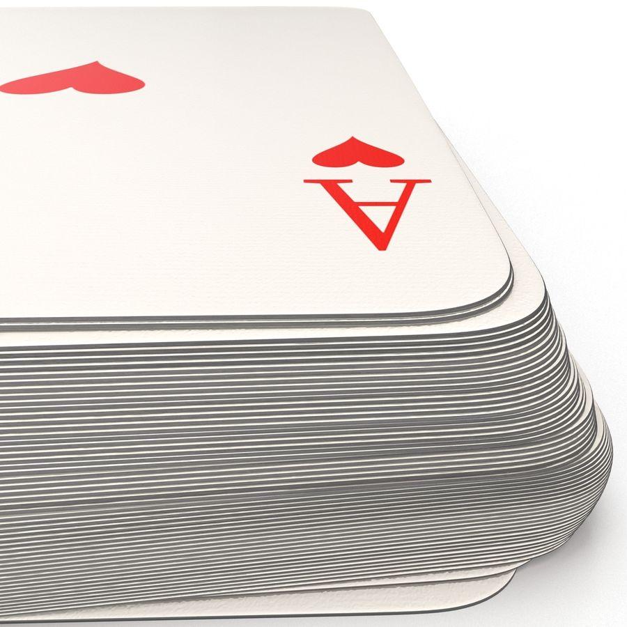 Deck Van Speelkaarten royalty-free 3d model - Preview no. 11