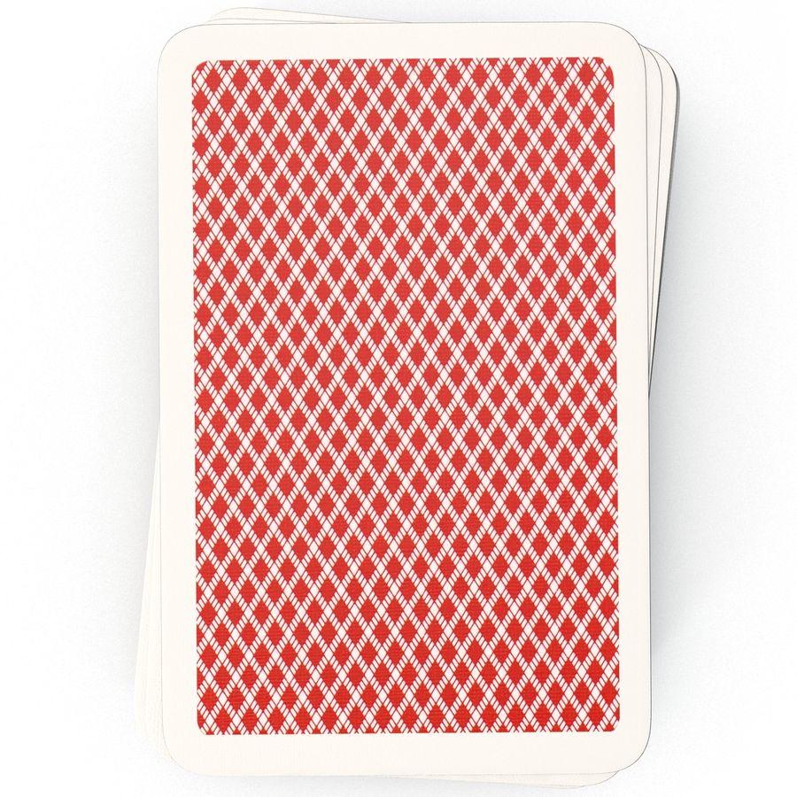 Deck Van Speelkaarten royalty-free 3d model - Preview no. 8