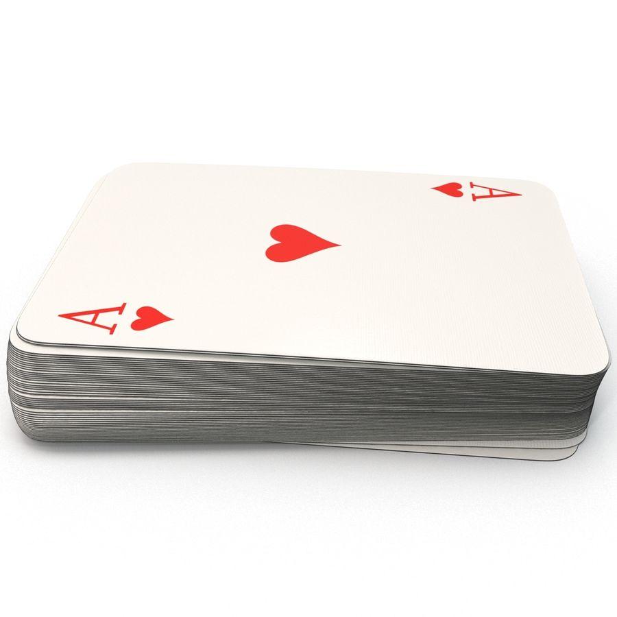Deck Van Speelkaarten royalty-free 3d model - Preview no. 3