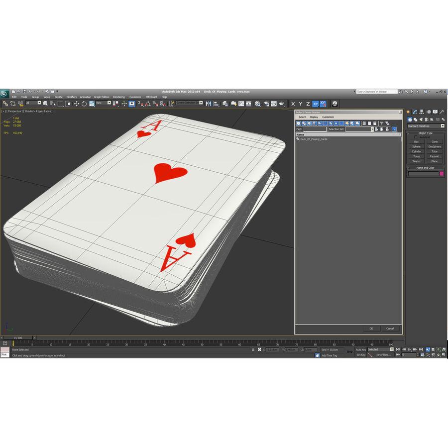 Deck Van Speelkaarten royalty-free 3d model - Preview no. 21
