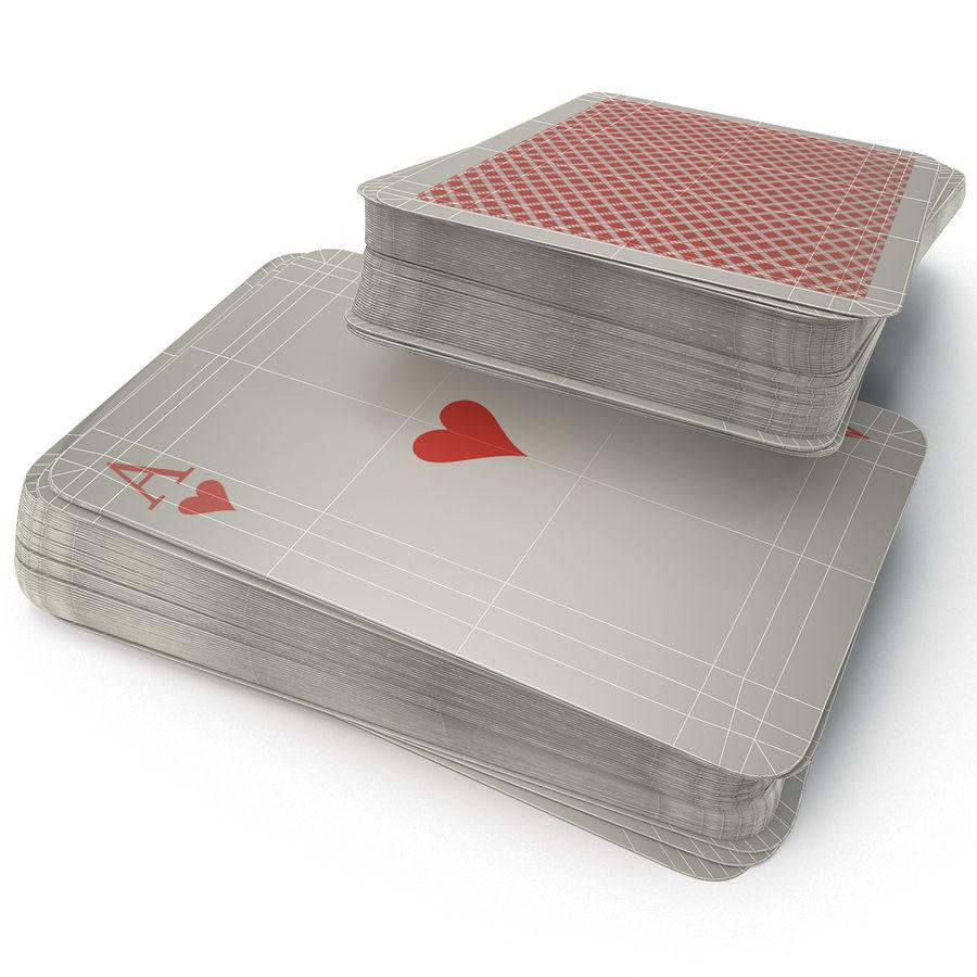 Deck Van Speelkaarten royalty-free 3d model - Preview no. 13