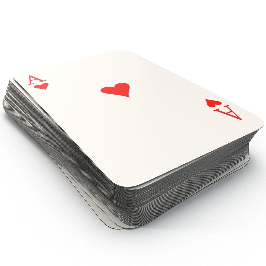 Deck Van Speelkaarten royalty-free 3d model - Preview no. 9