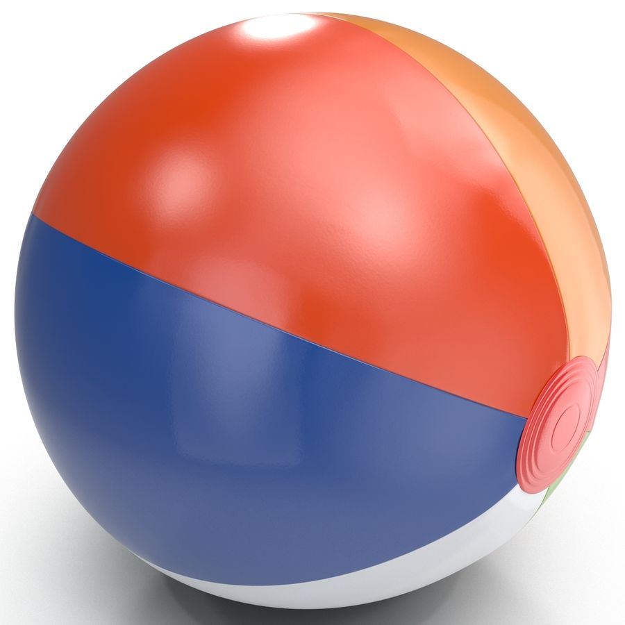 Beach Ball royalty-free 3d model - Preview no. 10