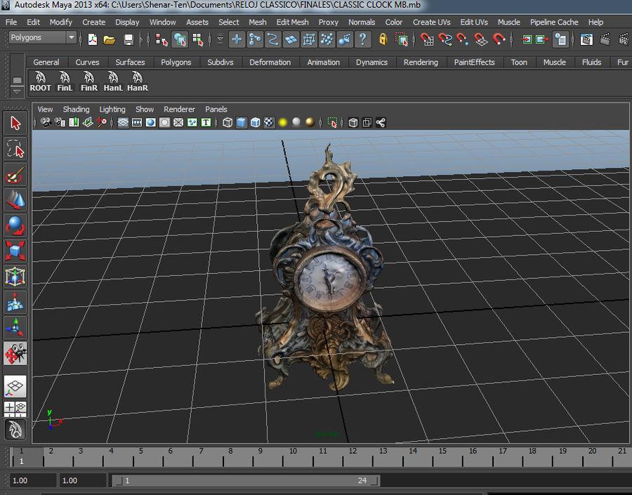 クラシッククロック royalty-free 3d model - Preview no. 9
