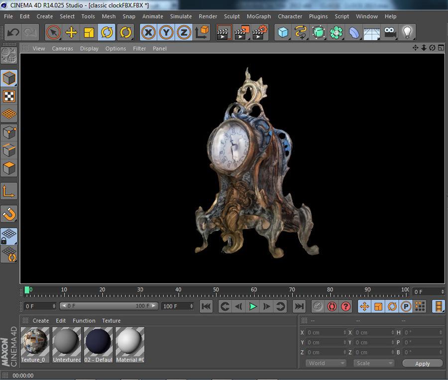 クラシッククロック royalty-free 3d model - Preview no. 8