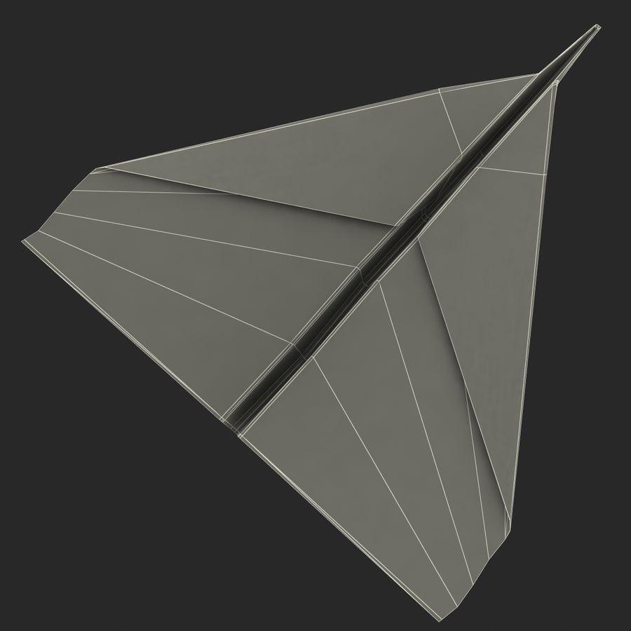 Avião de papel royalty-free 3d model - Preview no. 11