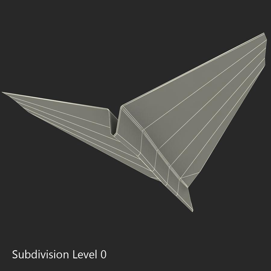 Avião de papel royalty-free 3d model - Preview no. 17