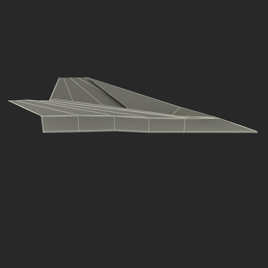 Avião de papel royalty-free 3d model - Preview no. 13