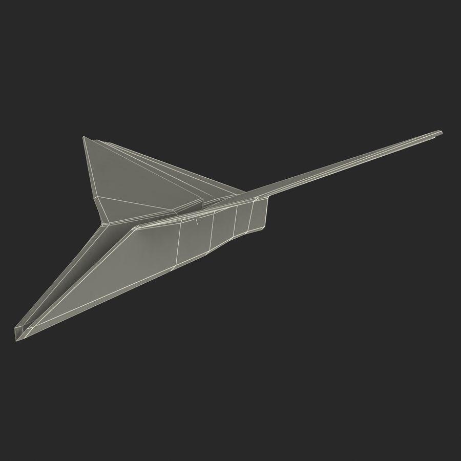 Avião de papel royalty-free 3d model - Preview no. 16