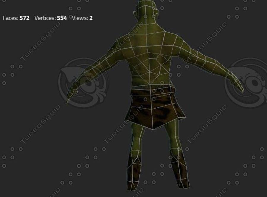 goblin - trol. Klein, agressief en groen royalty-free 3d model - Preview no. 2