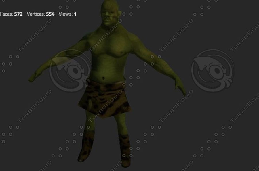 goblin - trol. Klein, agressief en groen royalty-free 3d model - Preview no. 4