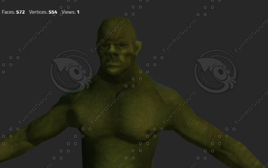 goblin - trol. Klein, agressief en groen royalty-free 3d model - Preview no. 1