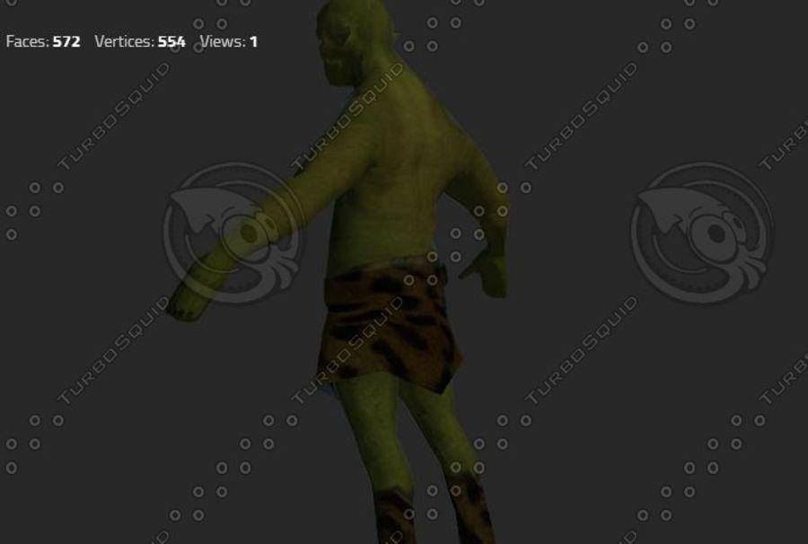 goblin - trol. Klein, agressief en groen royalty-free 3d model - Preview no. 5