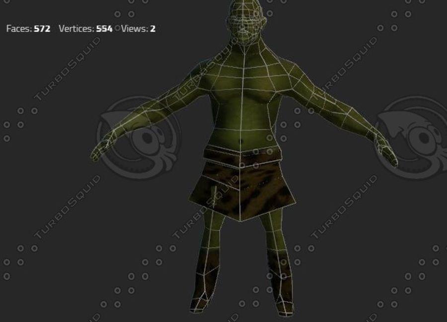 goblin - trol. Klein, agressief en groen royalty-free 3d model - Preview no. 3