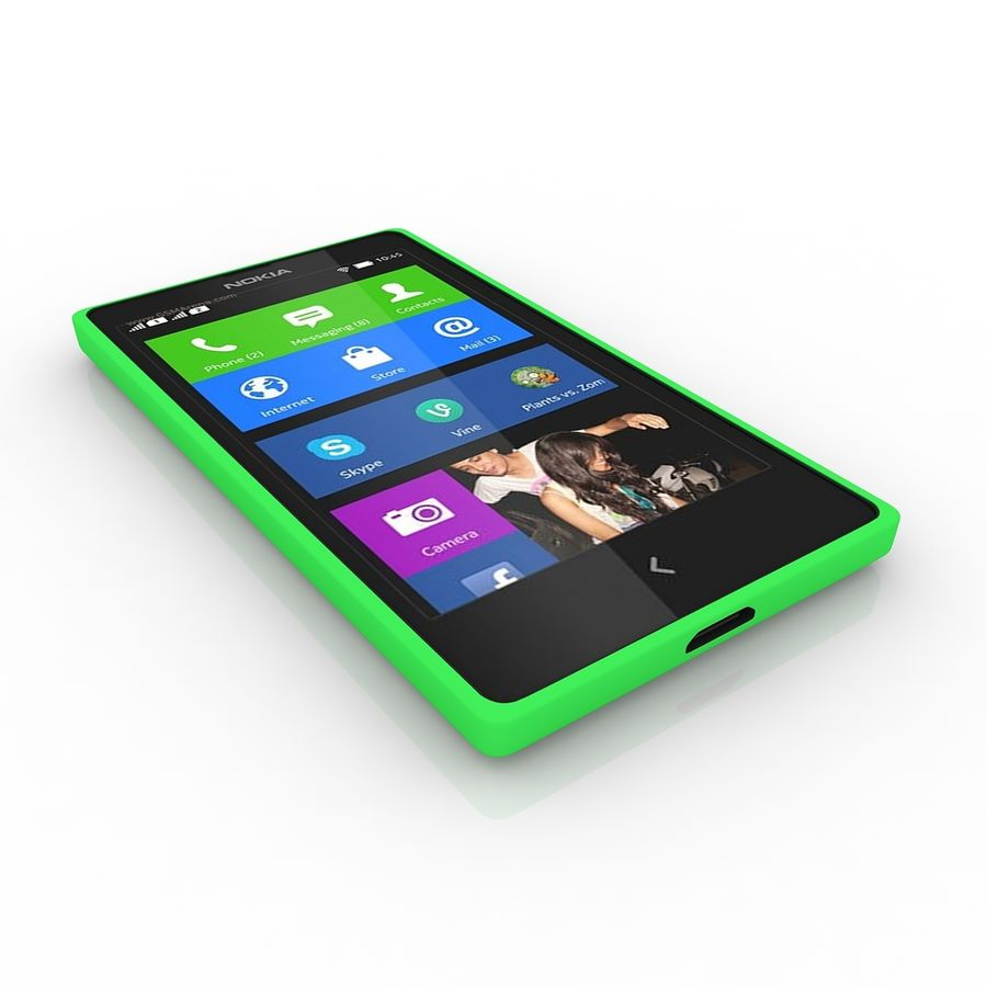 Nokia X royalty-free 3d model - Preview no. 2
