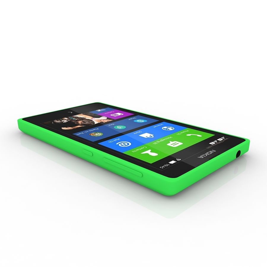 Nokia X royalty-free 3d model - Preview no. 4