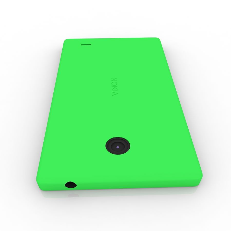 Nokia X royalty-free 3d model - Preview no. 8
