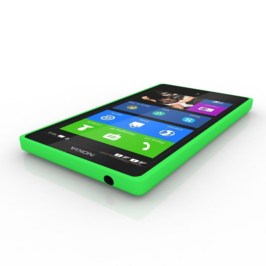 Nokia X royalty-free 3d model - Preview no. 3