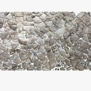 Stenen bestrating ronde circulaire blok decoratieve muur kasteelruïne oude (2) 3d model
