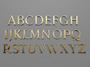 3d字体拉丁 3d model