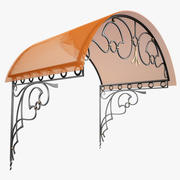 Wrought Iron Awning 3 3d model