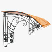 Wrought Iron Awning 9 3d model