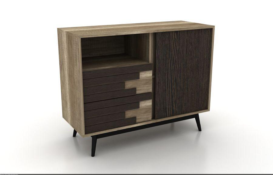 modernt möbler set vardagsrum royalty-free 3d model - Preview no. 3