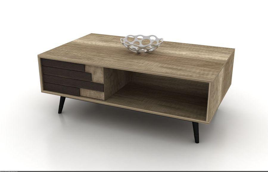 modernt möbler set vardagsrum royalty-free 3d model - Preview no. 7