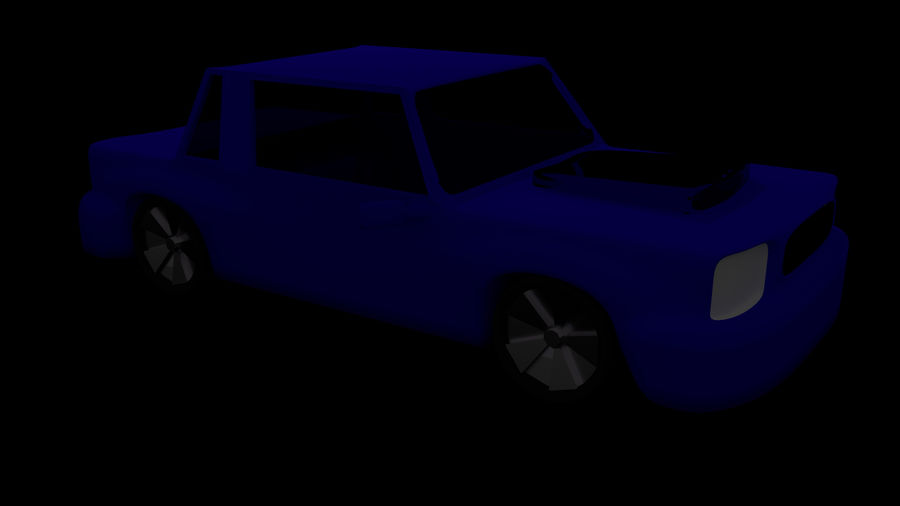 Coche royalty-free modelo 3d - Preview no. 1