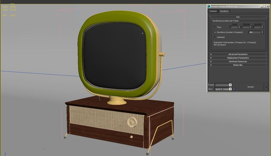 TV_Predicta_Philco royalty-free 3d model - Preview no. 7