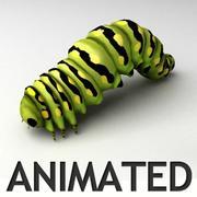 アニメーションの毛虫 3d model