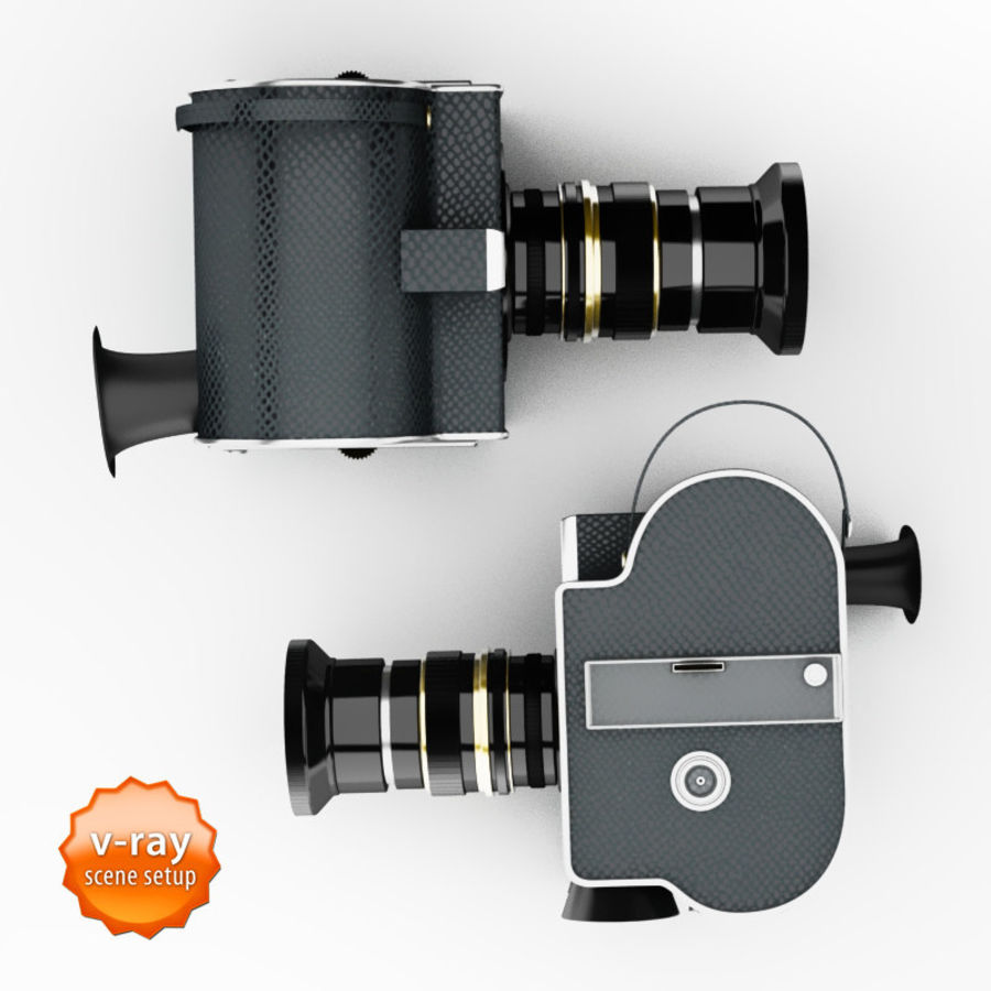 Vintage camera royalty-free 3d model - Preview no. 3