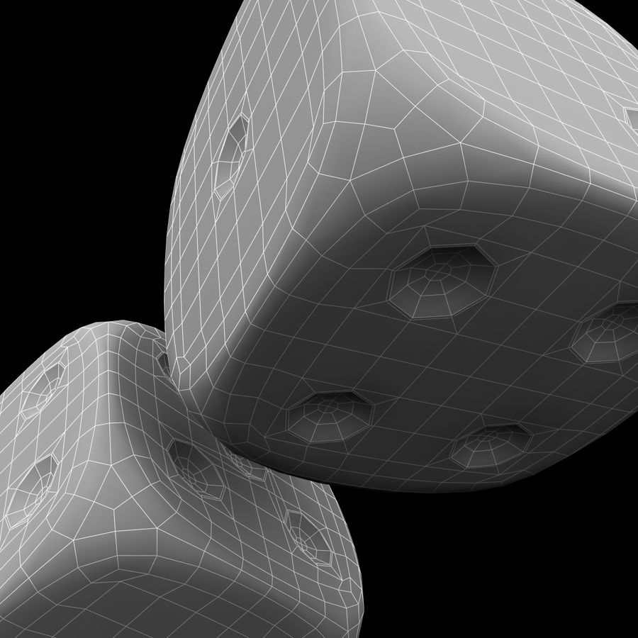 Dice royalty-free 3d model - Preview no. 14