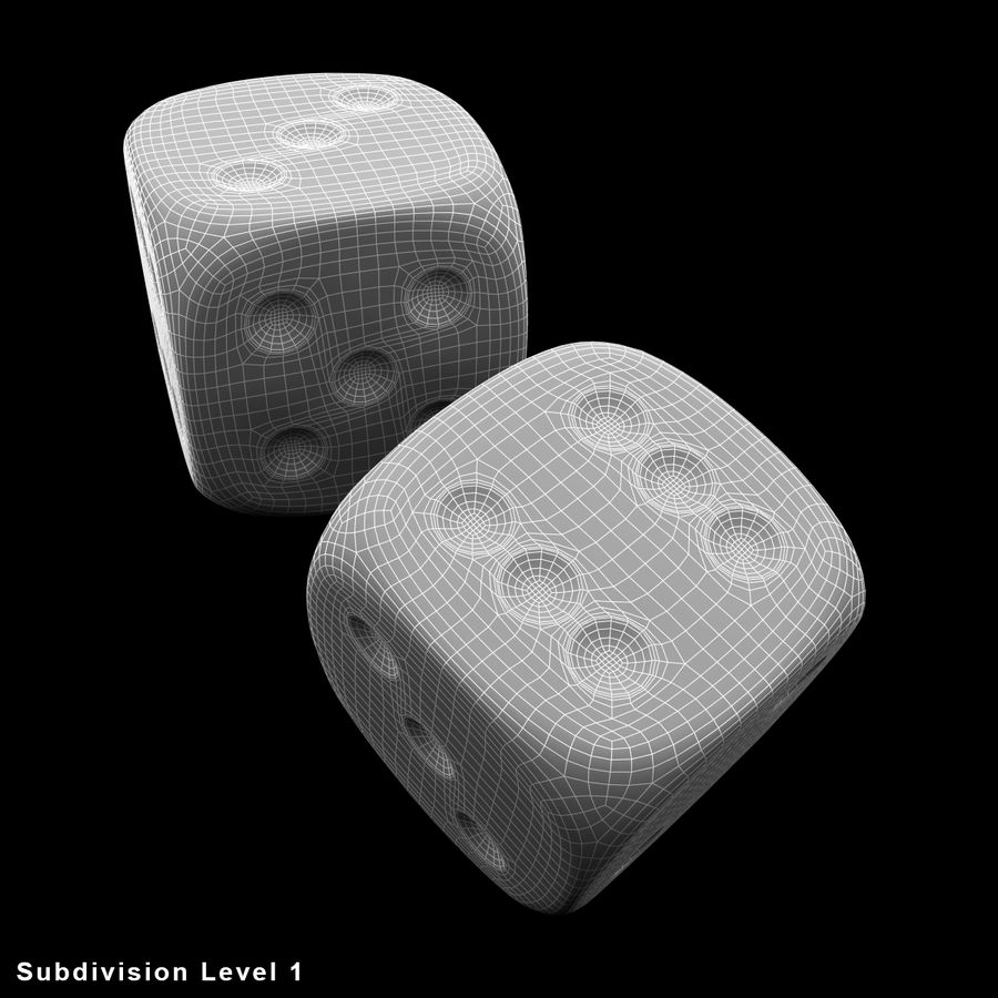 Dice royalty-free 3d model - Preview no. 18